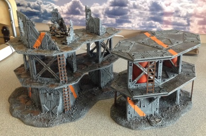 Next two largest buildings painted, again still need posters & weathering!