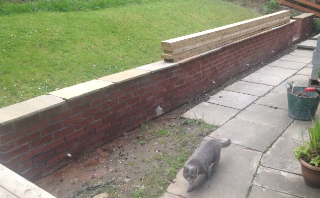 And front wall now with capping stones!