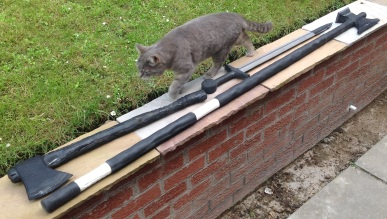 Mike Refurbished Weapons - with scale kitty... thankyou tigger!