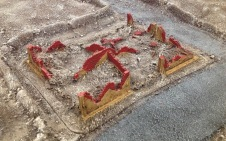 Flames of war resin building pieces donated by Jason Brown