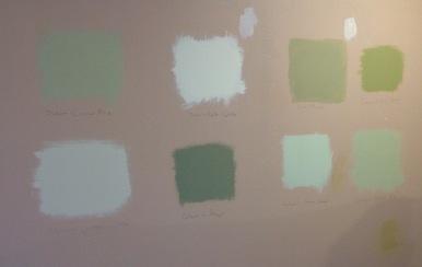 Colour sample wall - yup green