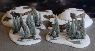 Stepped Hills & Trees, these generic pieces will be useful for other games systems